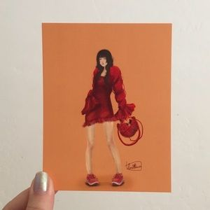 EXCLUSIVE Original Art Print: Red 01 Lomiana